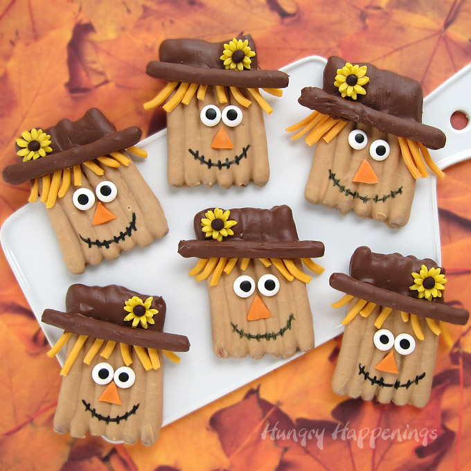 Image of Make Chocolate Pretzel Scarecrows
