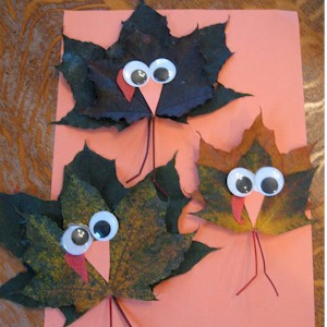 Image of Make Turkeys From Maple Leaves