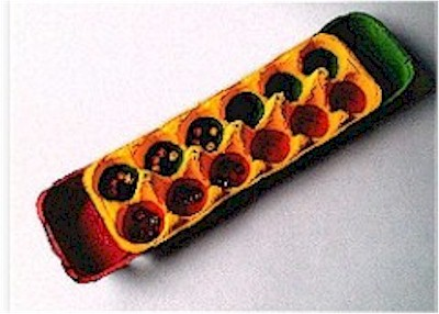 African Mancala Game made from recycled egg cartons