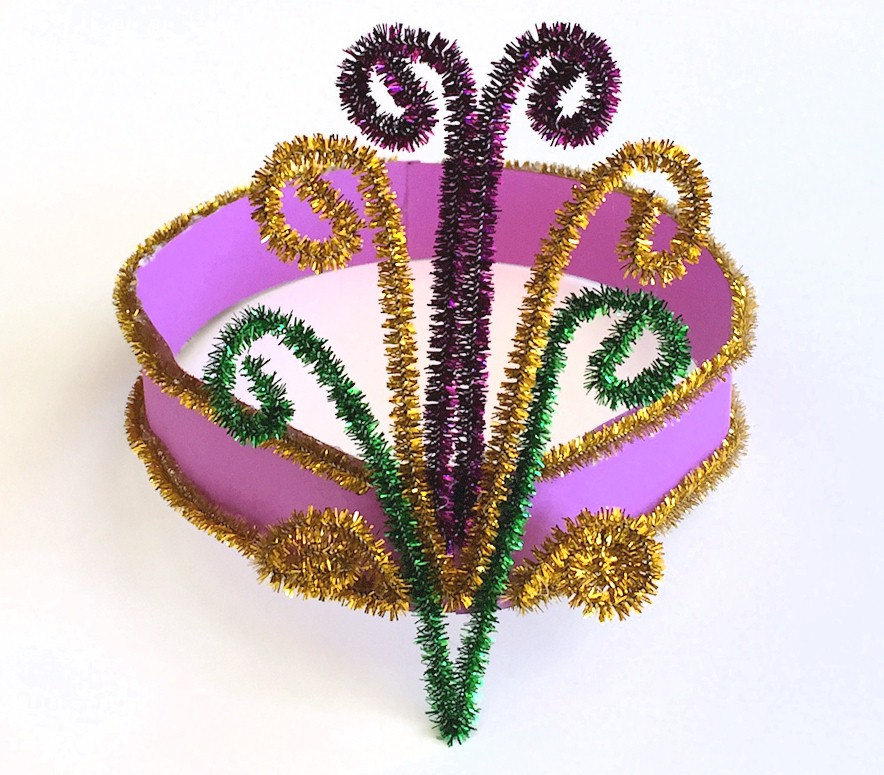 Image of Bead Mosaic for Mardi Gras