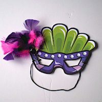 Image of Handprint Mardi Gras Mask