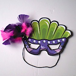 Image of Printable Mardi Gras Mask