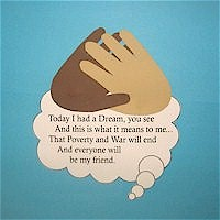 Image of Martin Luther King Helping Hands Poster