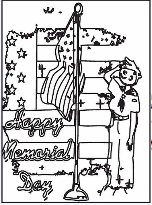 memorial-day-salute-bw