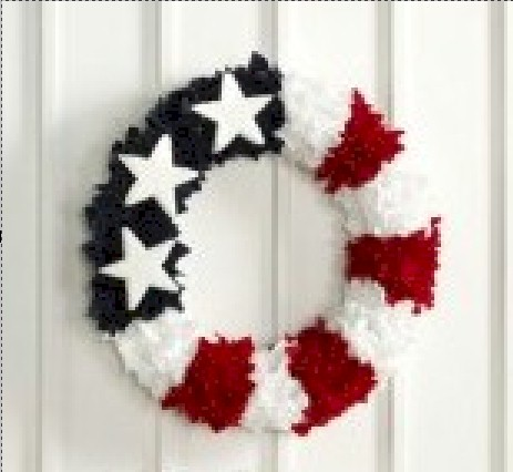 Image of Shabby Chic Patriotic Wreath