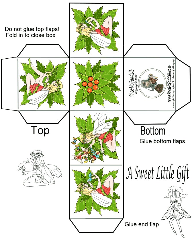 Printable Templates For Christmas Gift Boxes