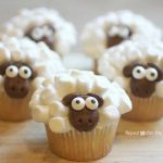 Mini Marshmallow Sheep Cupcakes