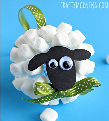 Mini Marshmallow Sheep Ornament