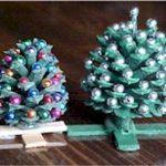 Miniature Pine Cone Christmas Trees
