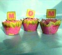 Image of Mother&#39s Day Cupcake Wrapper and Decoration