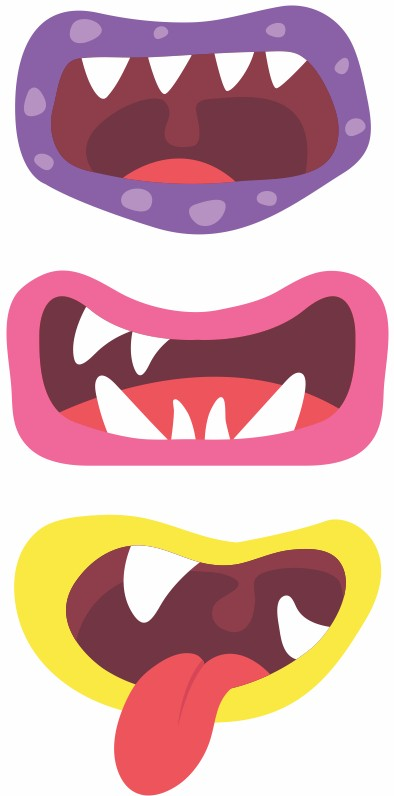 image regarding Mouth Printable titled Printable Monster Mouths