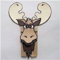 Moose Paper Bag Puppet