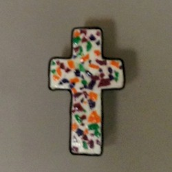 Mosaic Egg Shell Cross