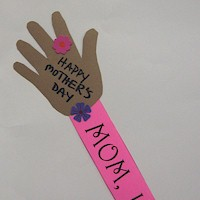 Image of Mothers Day Handprint Card