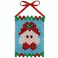Mrs. Claus Mini Bead Banner