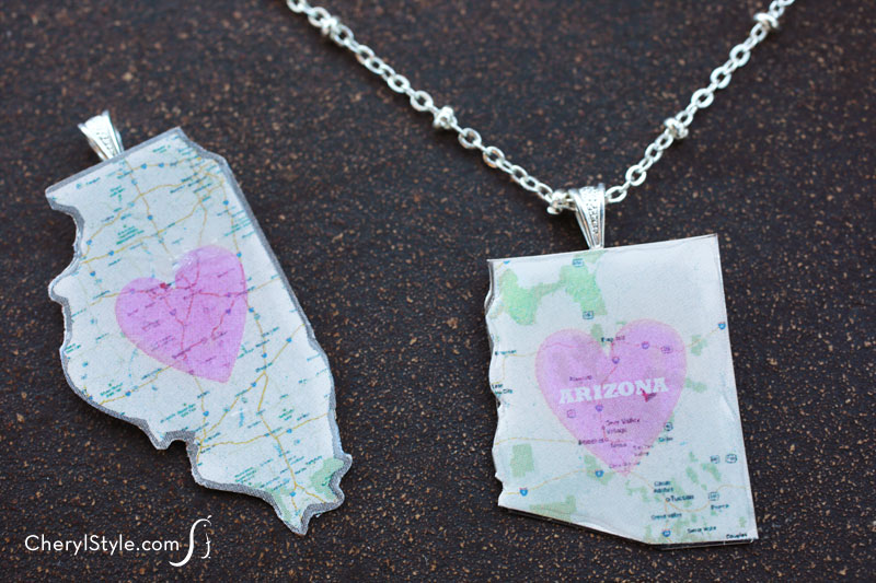Image of My State Necklace
