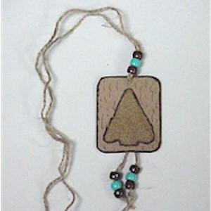 Native American Sand Art Arrowhead Necklace