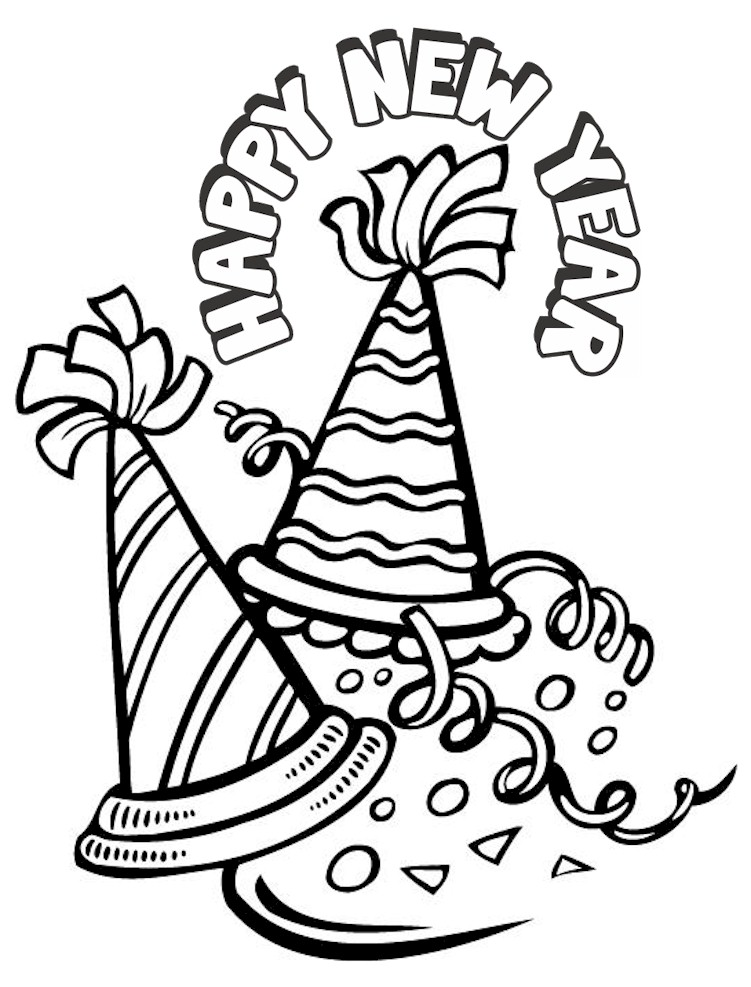 new years coloring page - New Years Coloring Pages
