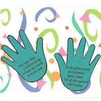Image of Handprint New Years Resolution
