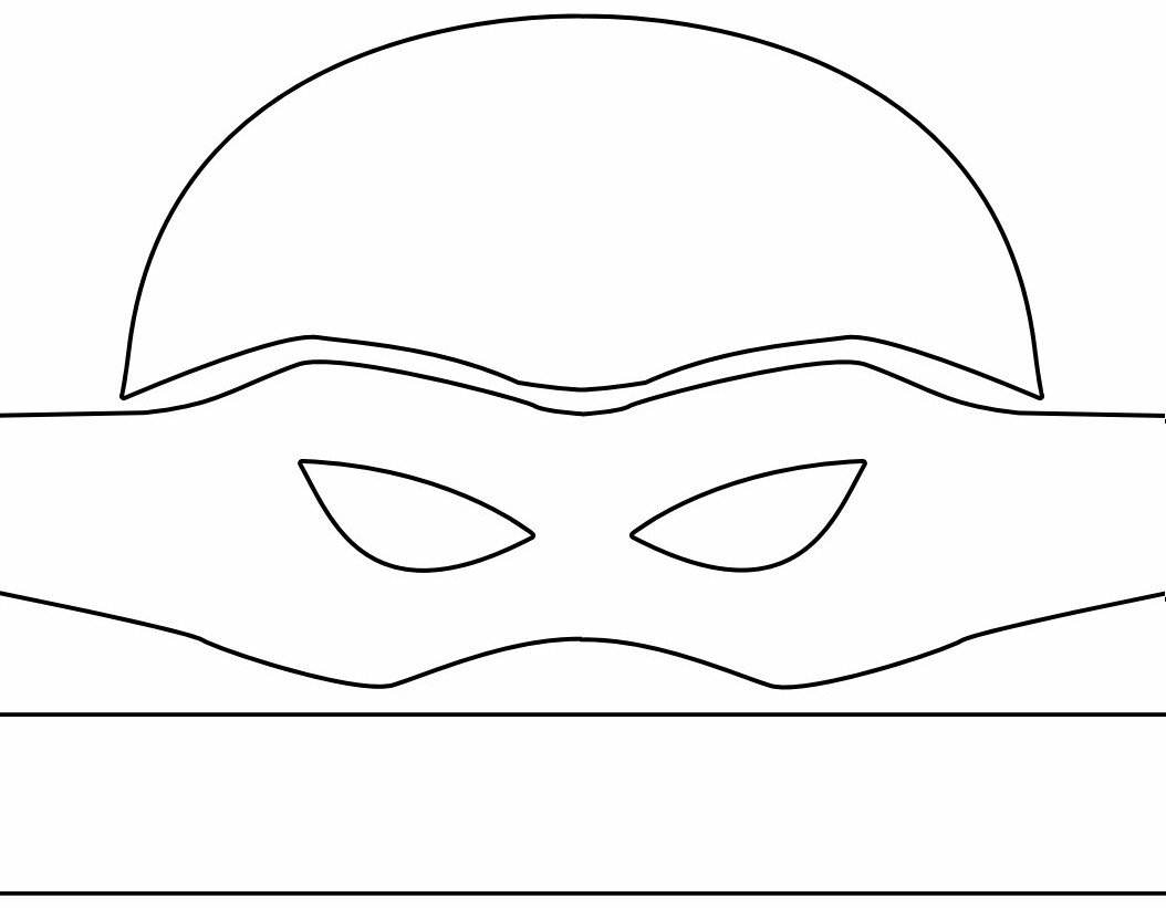 Universal image with ninja turtle printable mask