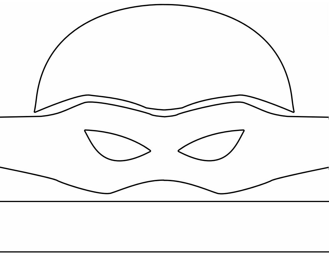 ninja turtle mask template   Free Kids Crafts