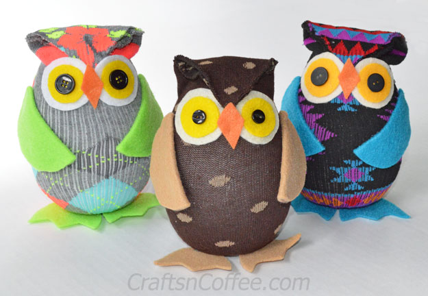 No-Sew Owls From A Sock