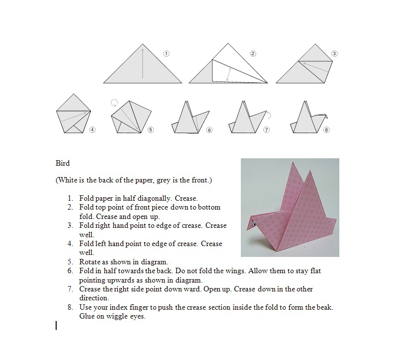 How To Make A Paper Crane Origami Step By Step Easy
