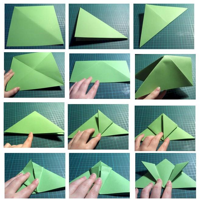 Как сделать лягушку из бумаги оригами схема - Оригами