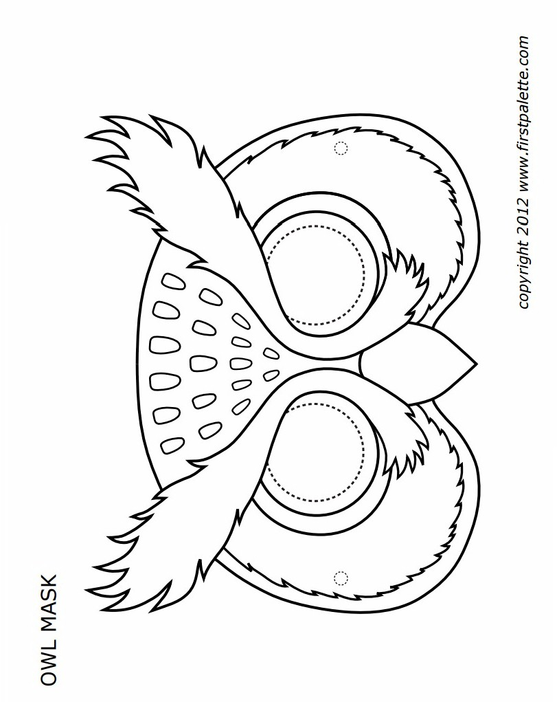 Printable owl mask for Children s mask templates