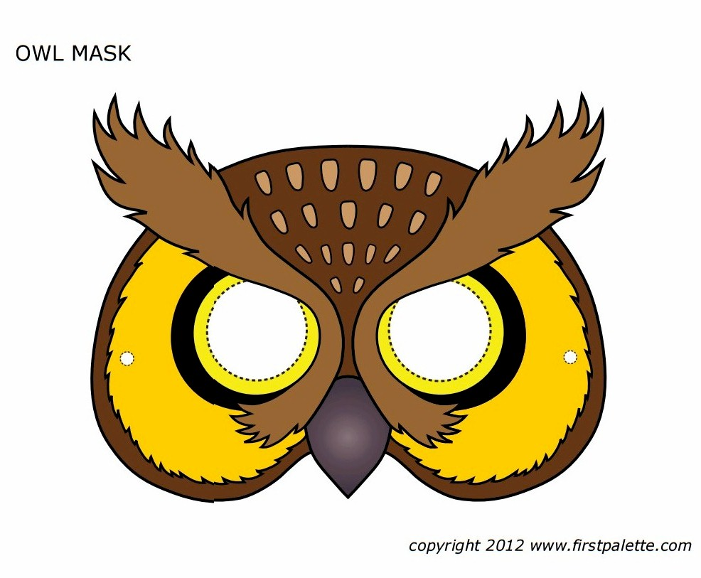 Image of Paper Plate Bird Mask