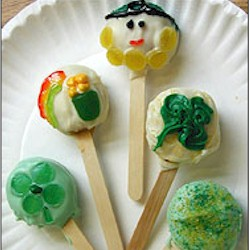 St Paddys Day Cookie Pops