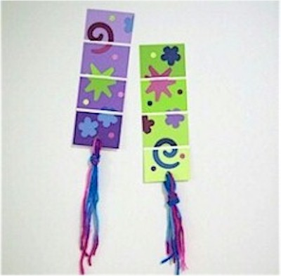 DIY Bookmarks from paint chips