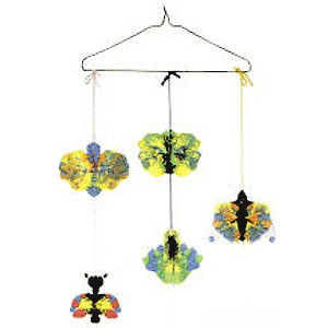 Image of Paint Drop Butterfly Mobile Craft
