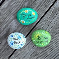 Stones Painted with Inspirational Messages