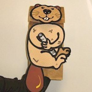 Easy to make Beaver Puppet from a paper bag.