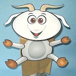 Paper Bag Goat Puppet