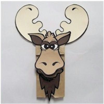 Image of Moose Paper Bag Puppet