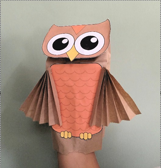 ... jpeg 63kB, Be interested in paper bag scarecrow paper bag owl puppet