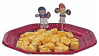 Football and cheerleader snack toothpicks