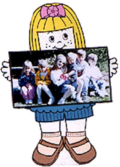 Playtime Paper Doll Photo Frame
