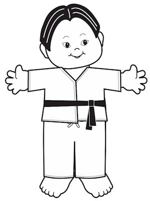Image of Playtime Martial Arts Paper Doll
