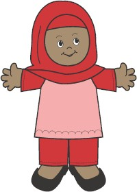 Image of Playtime Muslim Paper Doll