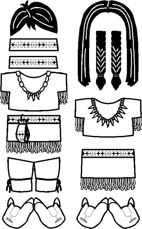 paper-doll-native-american-clothes-bw