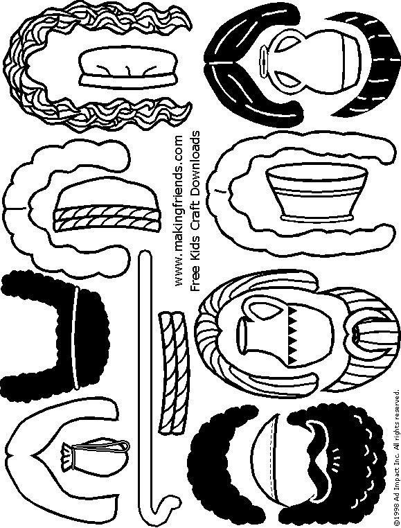 paper-doll-nativity-accessories-hair-bw