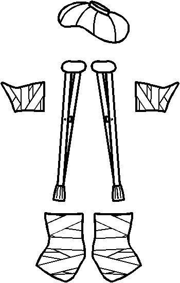paper-doll-on-crutches-bandages