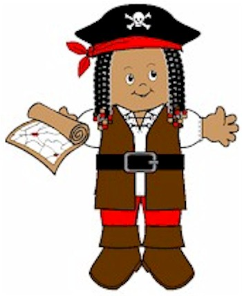 Image of Playtime Pirate Paper Doll