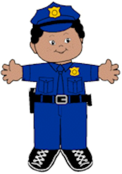 Playtime Police Officer Paper Doll