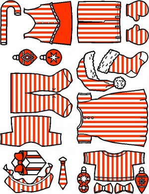 Image of Santa and Friends Playtime Paper Dolls