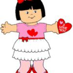 Playtime Valentine Paper Doll
