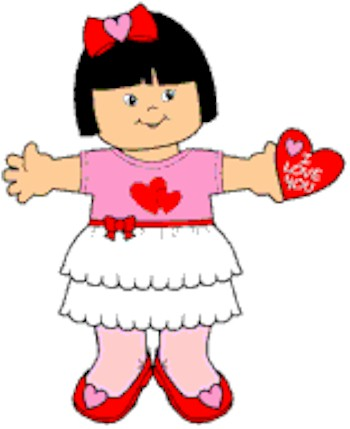Image of Playtime Valentine Paper Doll